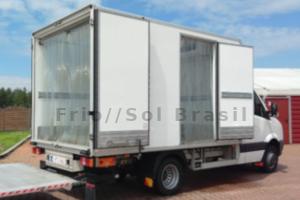 Cortinas de PVC para caminhão refrigerado