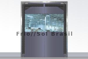 portas flex em pvc cinza reforçado para supermercados acougues frigorificos e laboratorios